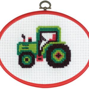 Broderi - Tælle broderi til børn - 92-8395 med Traktor