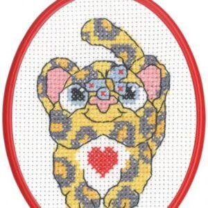 Broderi - Tælle broderi til børn - 92-5841 med Leopard